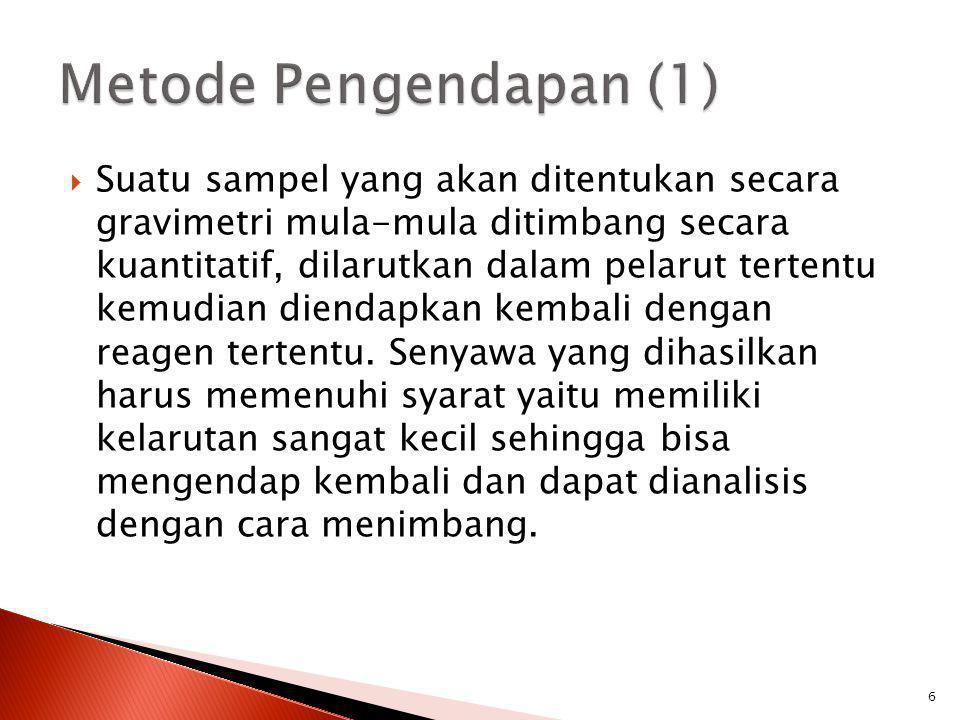 Metode Pengendapan (1)