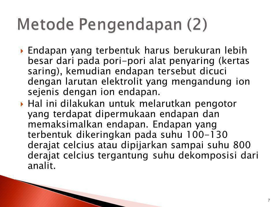 Metode Pengendapan (2)