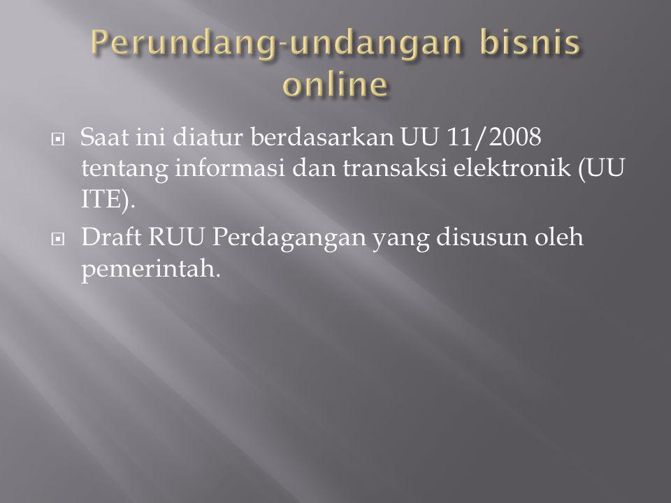 Perundang-undangan bisnis online