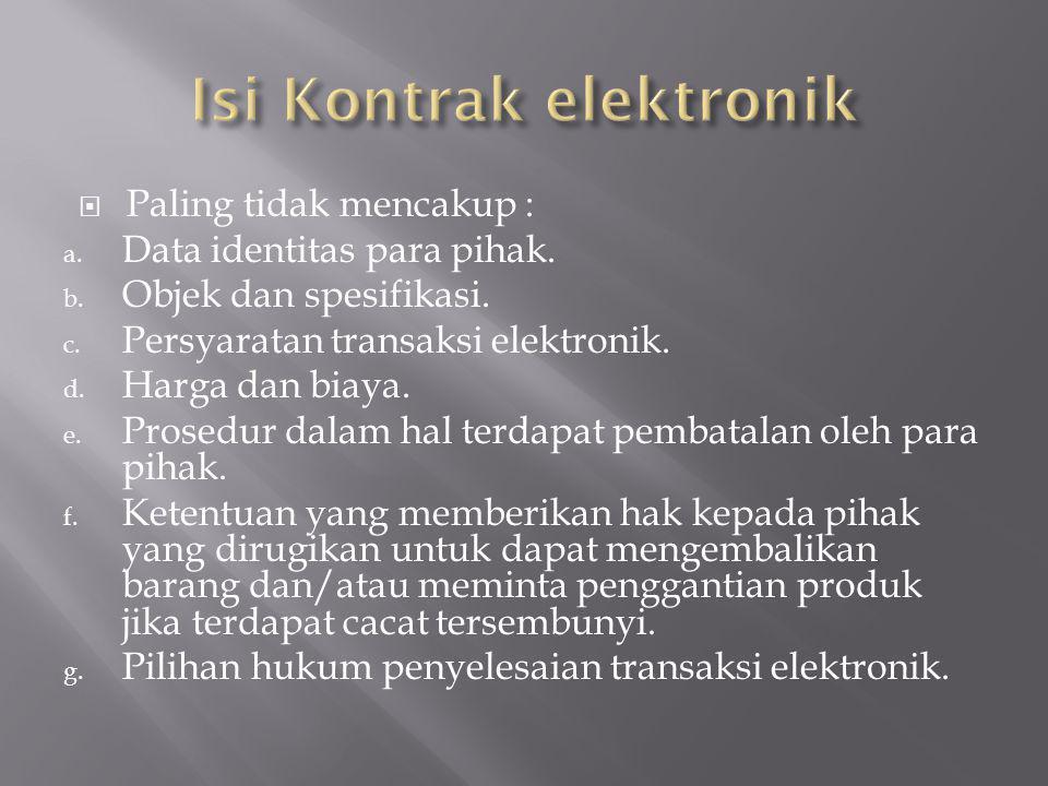 Isi Kontrak elektronik
