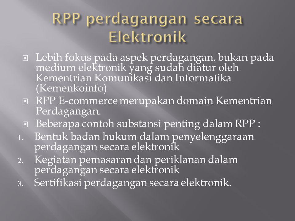 RPP perdagangan secara Elektronik