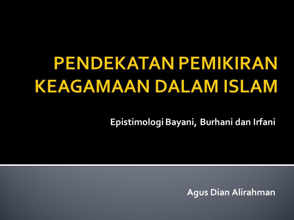 PENDEKATAN PEMIKIRAN KEAGAMAAN DALAM ISLAM