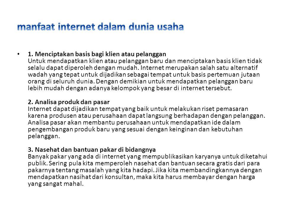 manfaat internet dalam dunia usaha