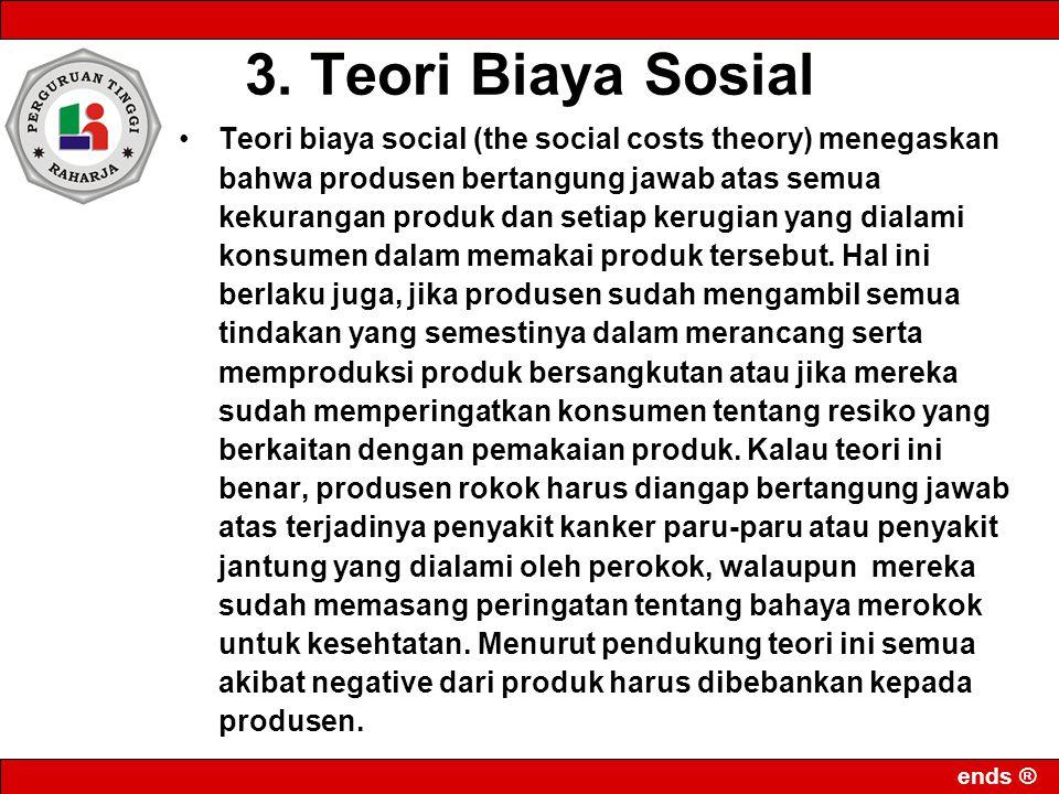 3. Teori Biaya Sosial