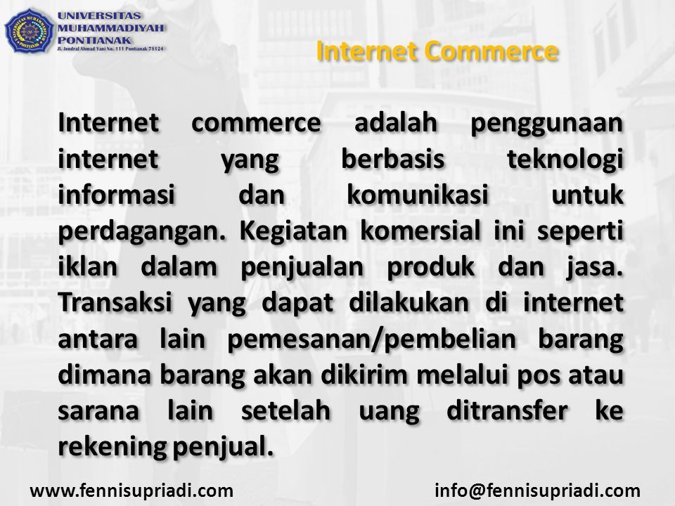Internet Commerce