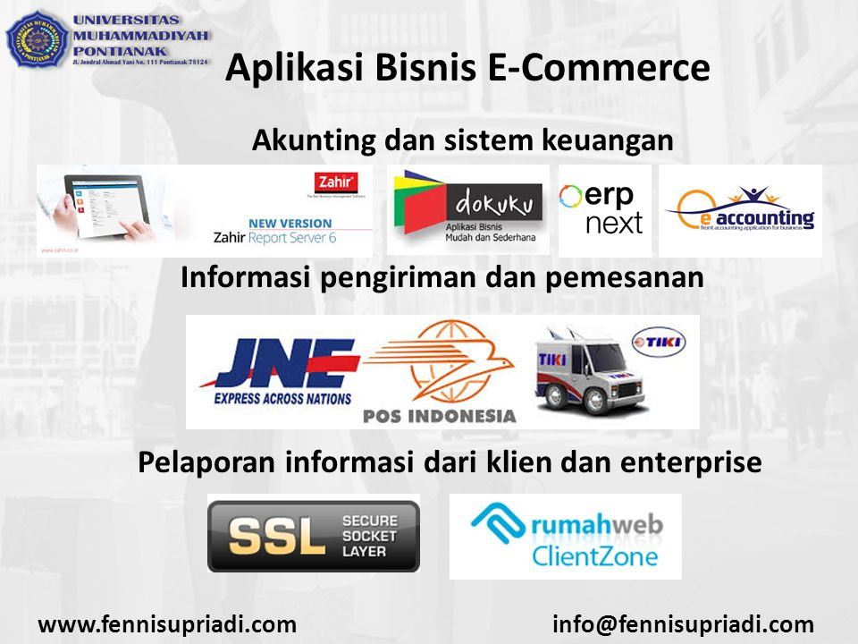 Aplikasi Bisnis E-Commerce