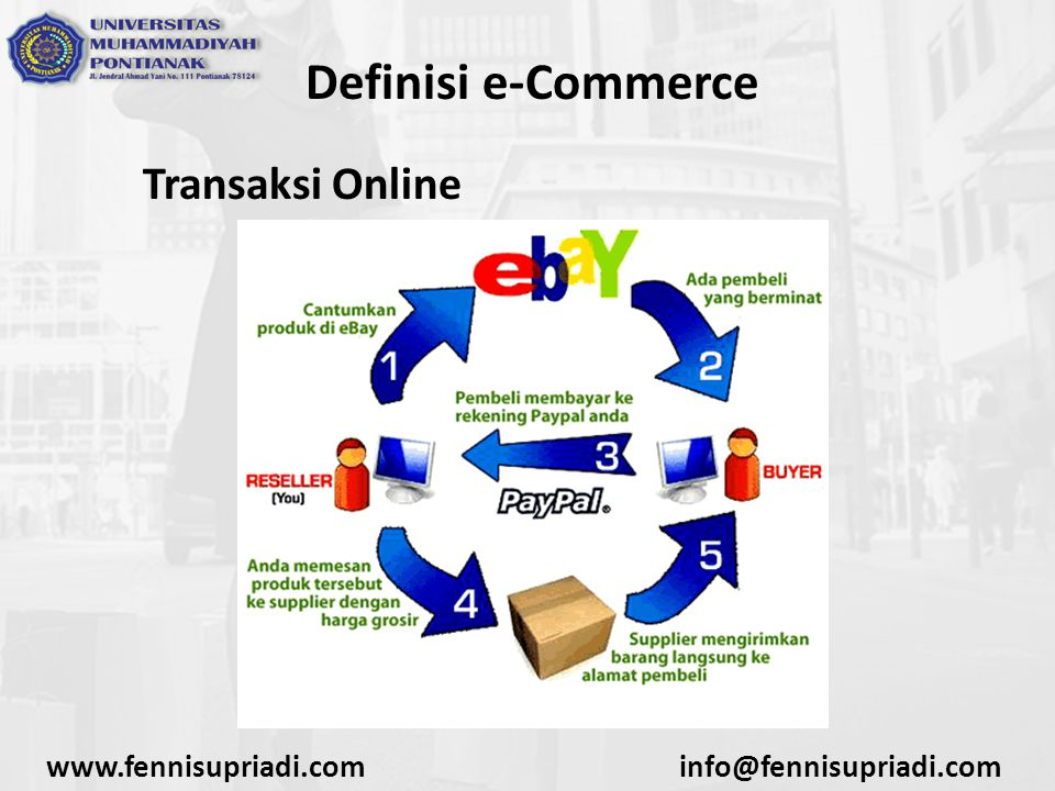 Definisi e-Commerce Transaksi Online www.fennisupriadi.com