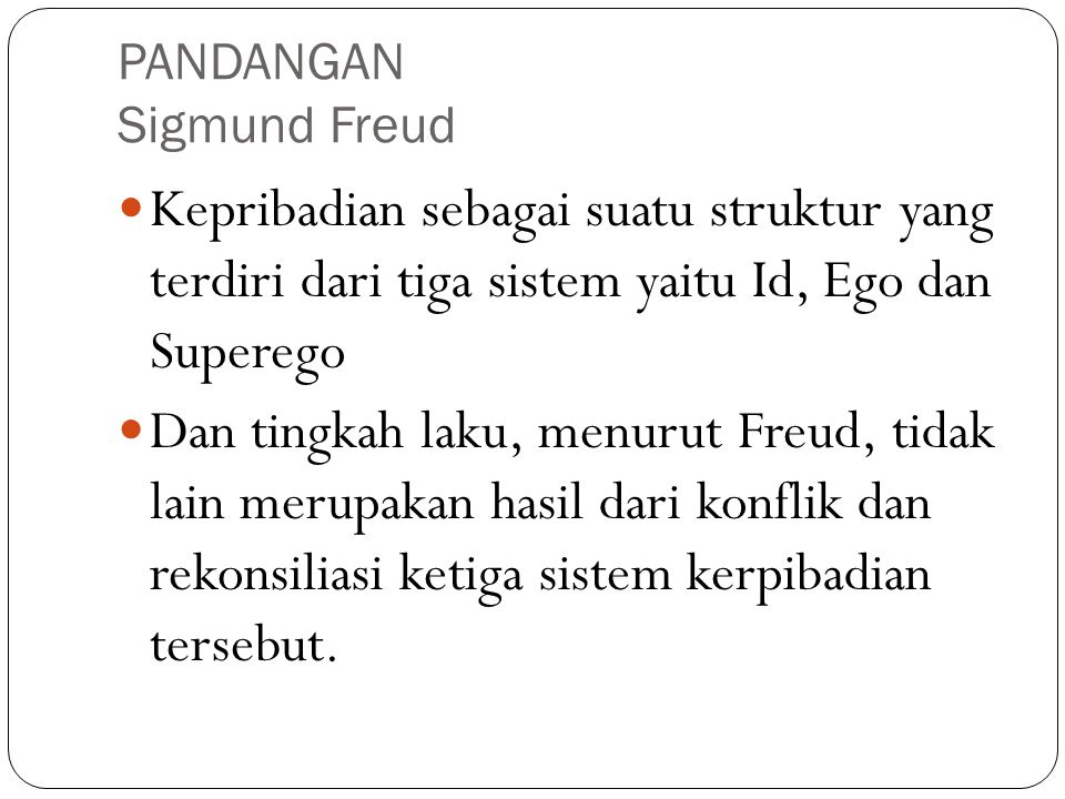 PANDANGAN Sigmund Freud