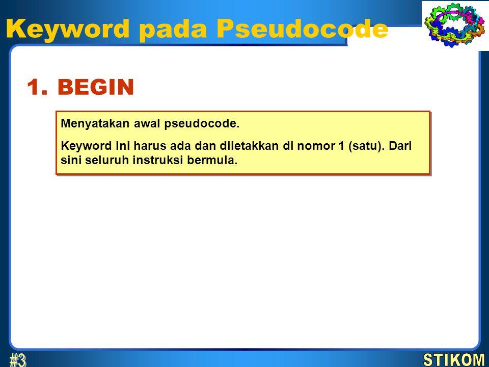 Keyword pada Pseudocode