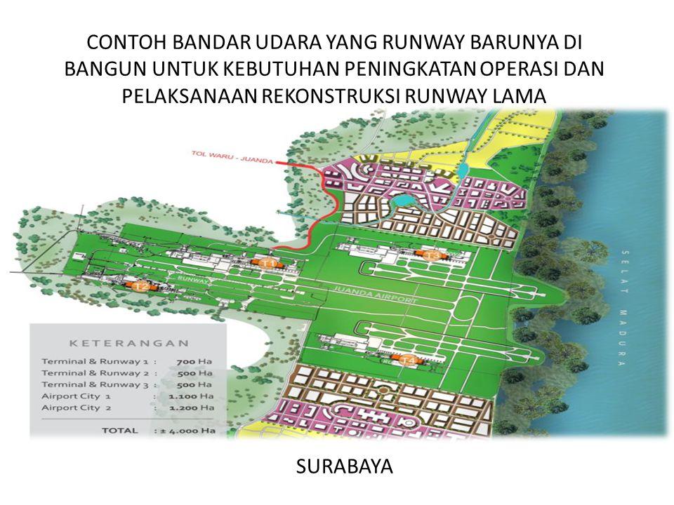 Contoh Bandar Udara Yang Runway Barunya di Bangun untuk Kebutuhan PENINGKATAN OPERASI DAN Pelaksanaan Rekonstruksi Runway Lama