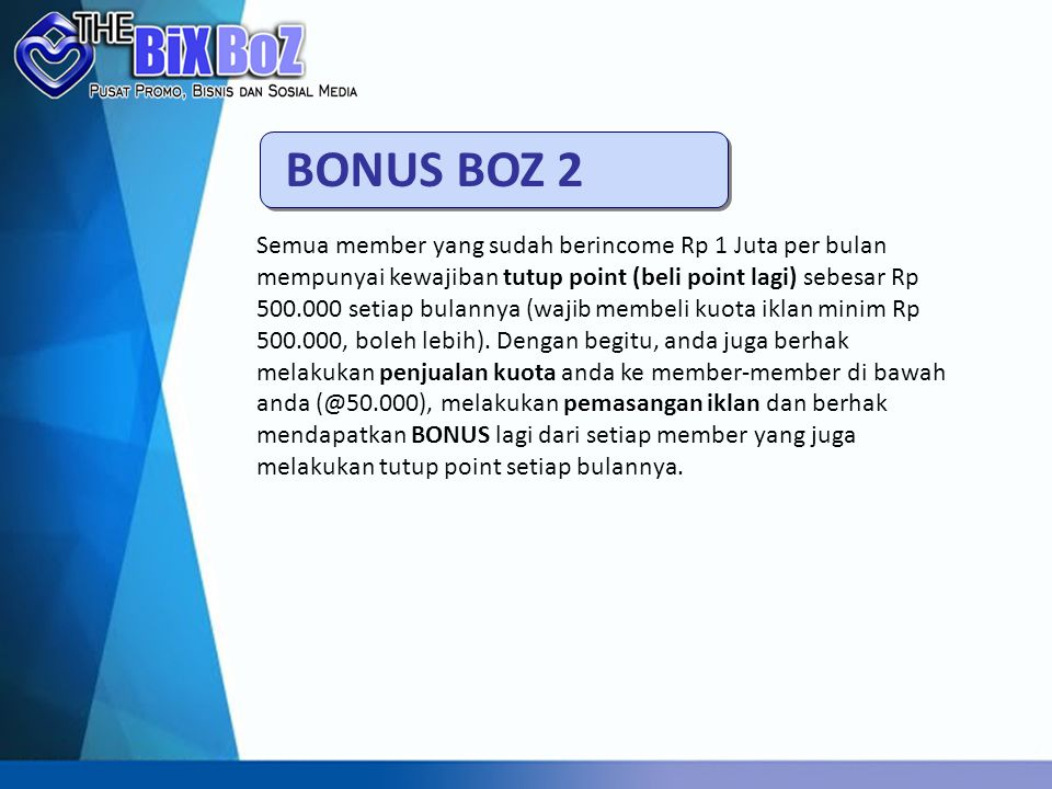 BONUS BOZ 2