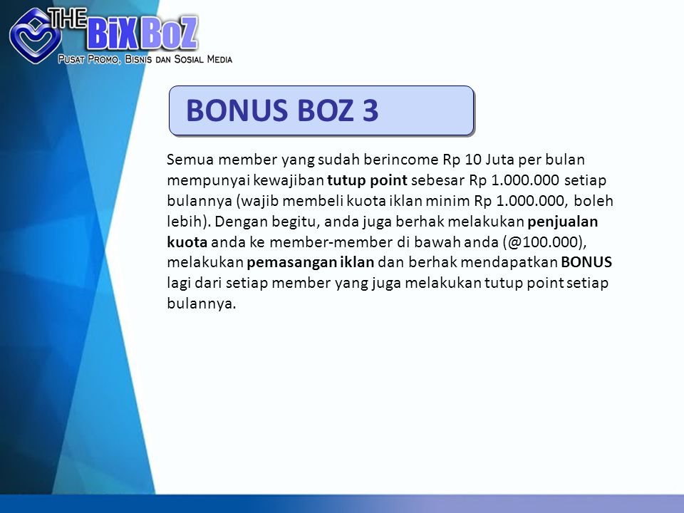 BONUS BOZ 3