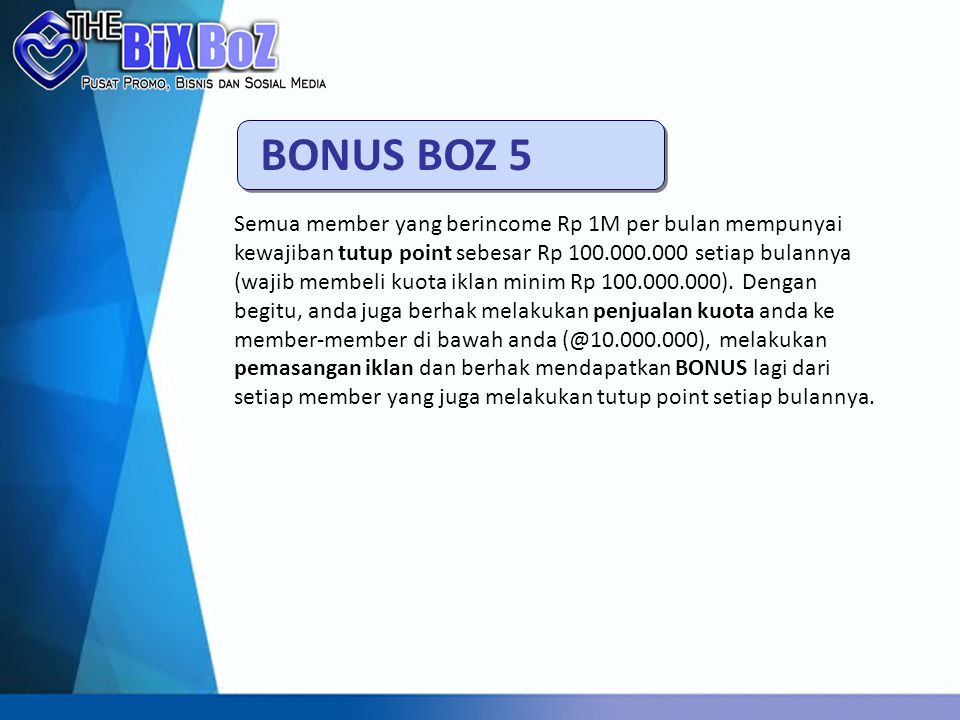 BONUS BOZ 5