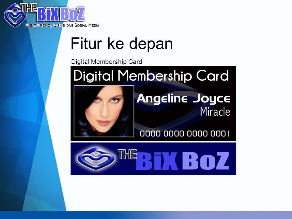 Fitur ke depan Digital Membership Card
