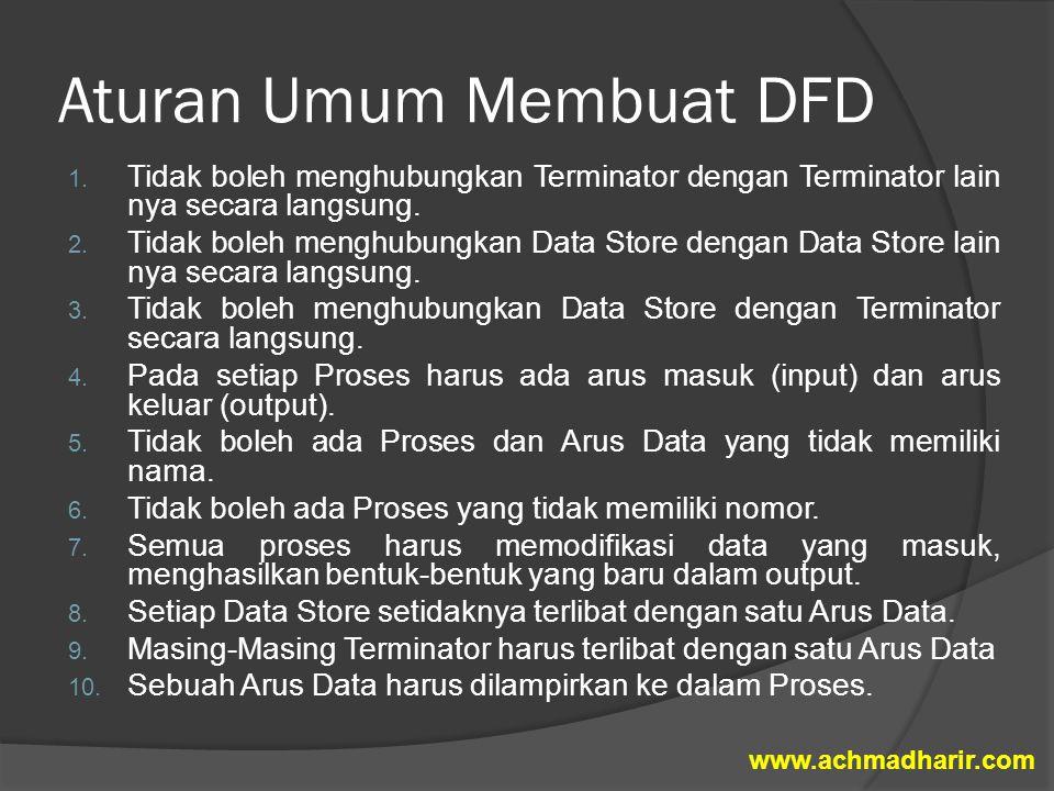 Aturan Umum Membuat DFD