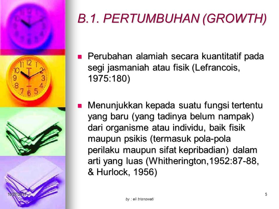 B.1. PERTUMBUHAN (GROWTH)