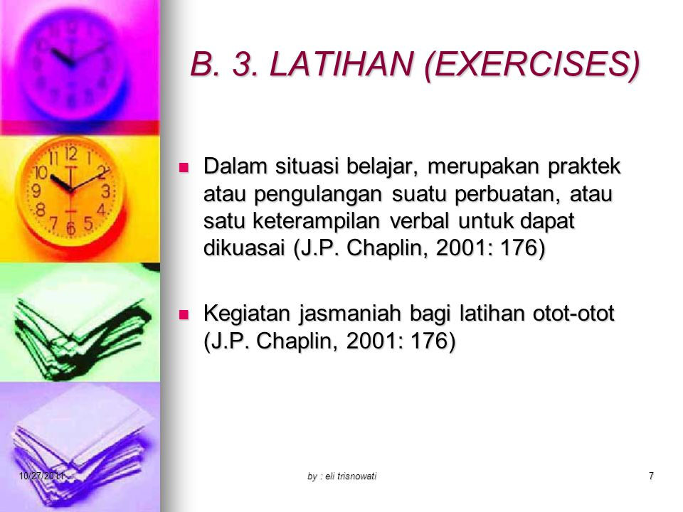 B. 3. LATIHAN (EXERCISES)