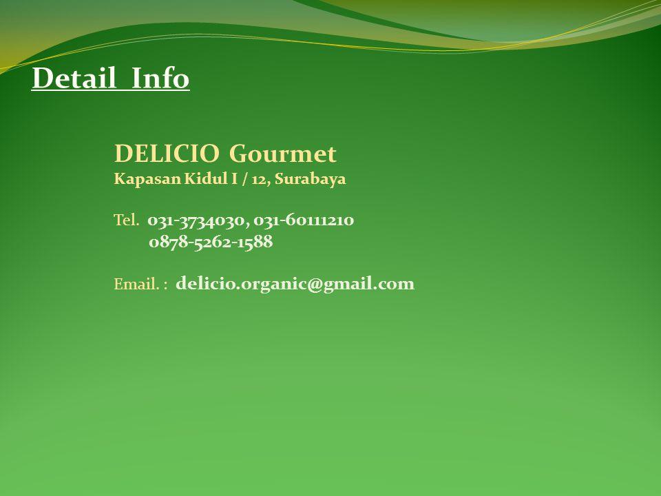 Detail Info DELICIO Gourmet 0878-5262-1588