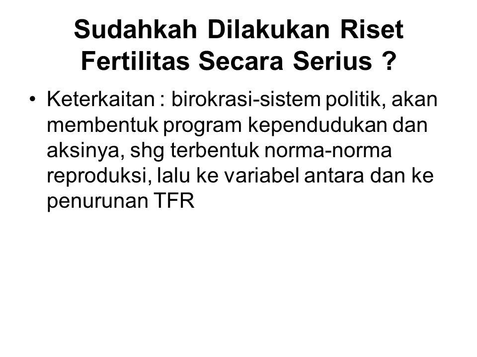 Sudahkah Dilakukan Riset Fertilitas Secara Serius