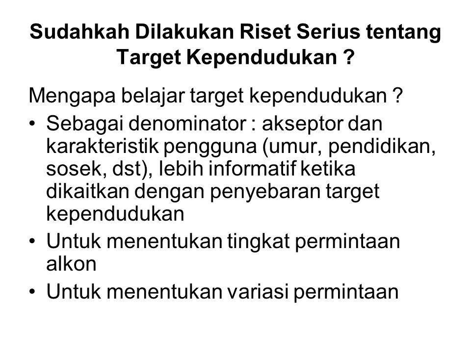 Sudahkah Dilakukan Riset Serius tentang Target Kependudukan