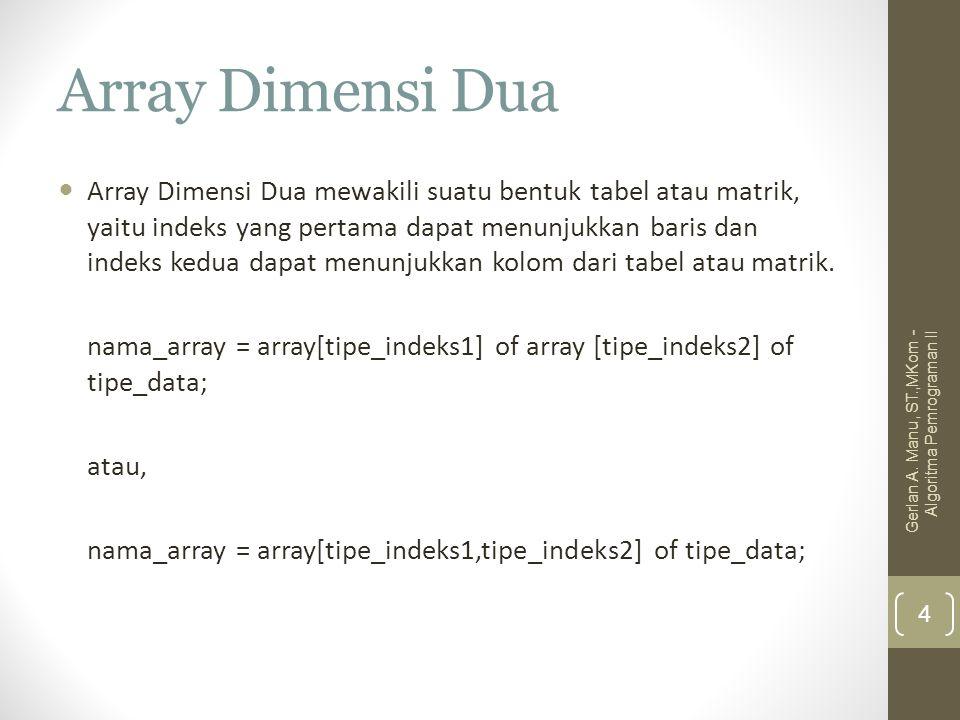 Array Dimensi Dua