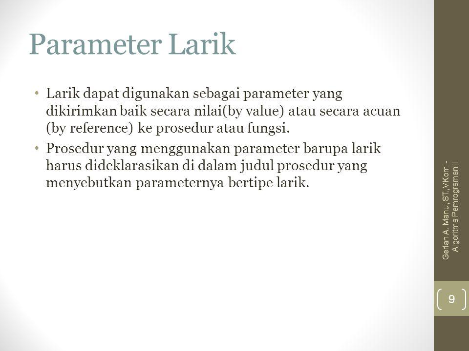 Parameter Larik