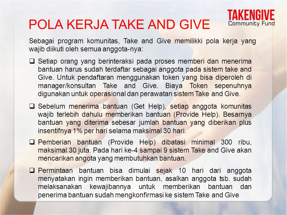 POLA KERJA TAKE AND GIVE