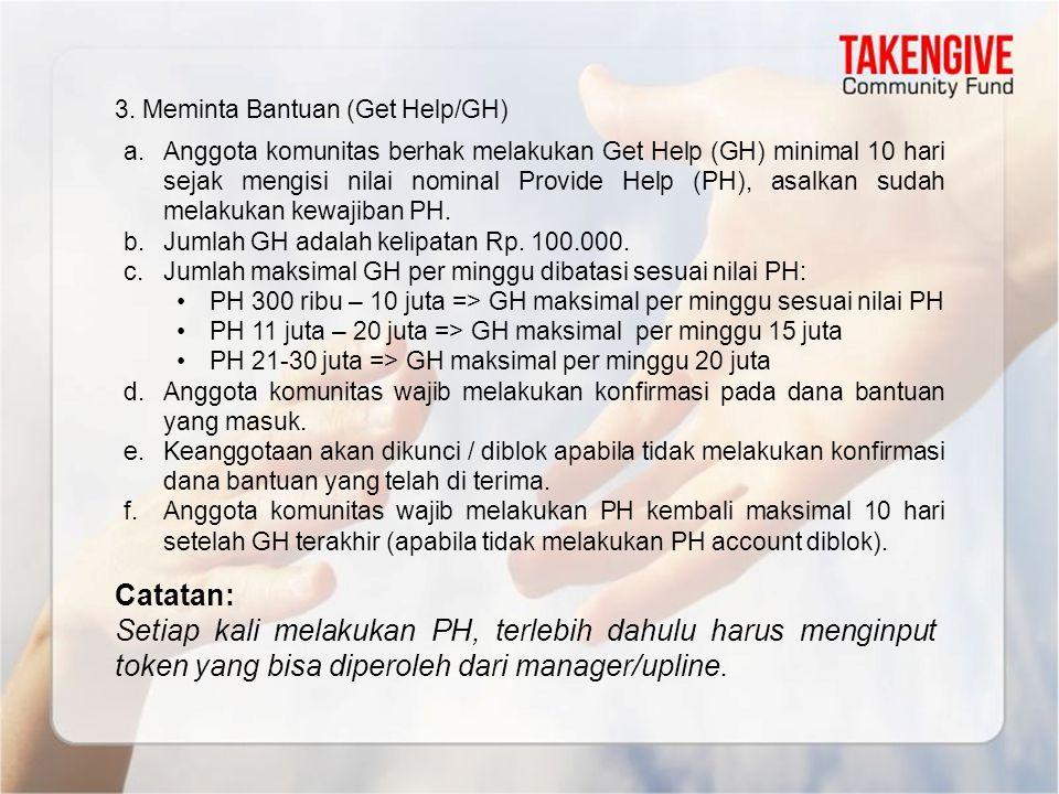 3. Meminta Bantuan (Get Help/GH)