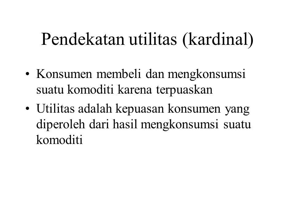 Pendekatan utilitas (kardinal)