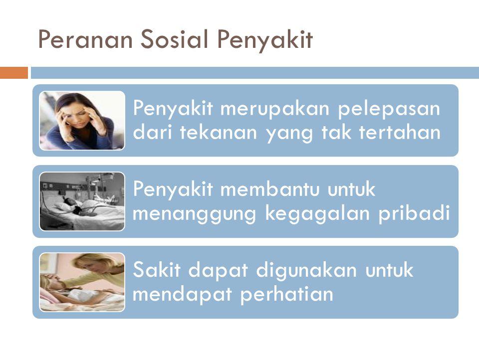 Peranan Sosial Penyakit