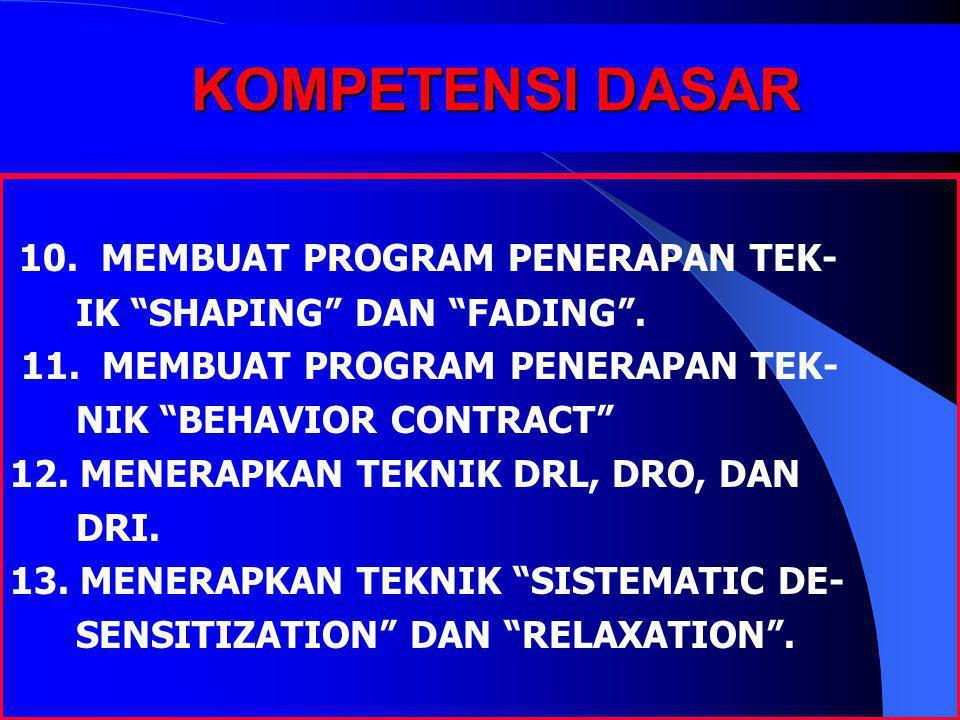 KOMPETENSI DASAR 10. MEMBUAT PROGRAM PENERAPAN TEK-