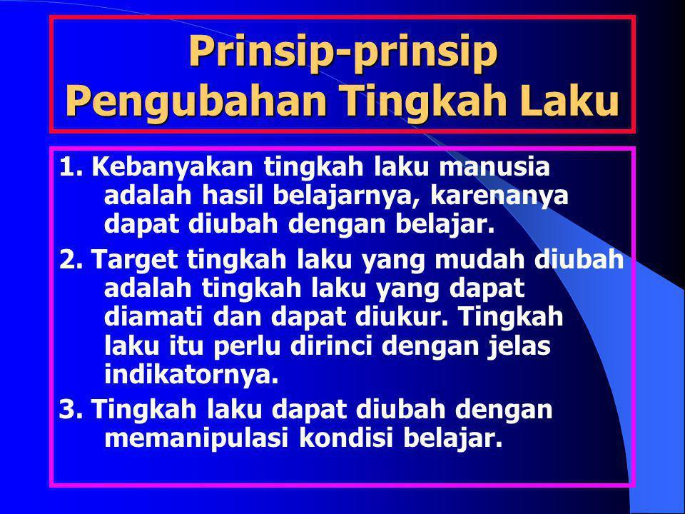 Prinsip-prinsip Pengubahan Tingkah Laku