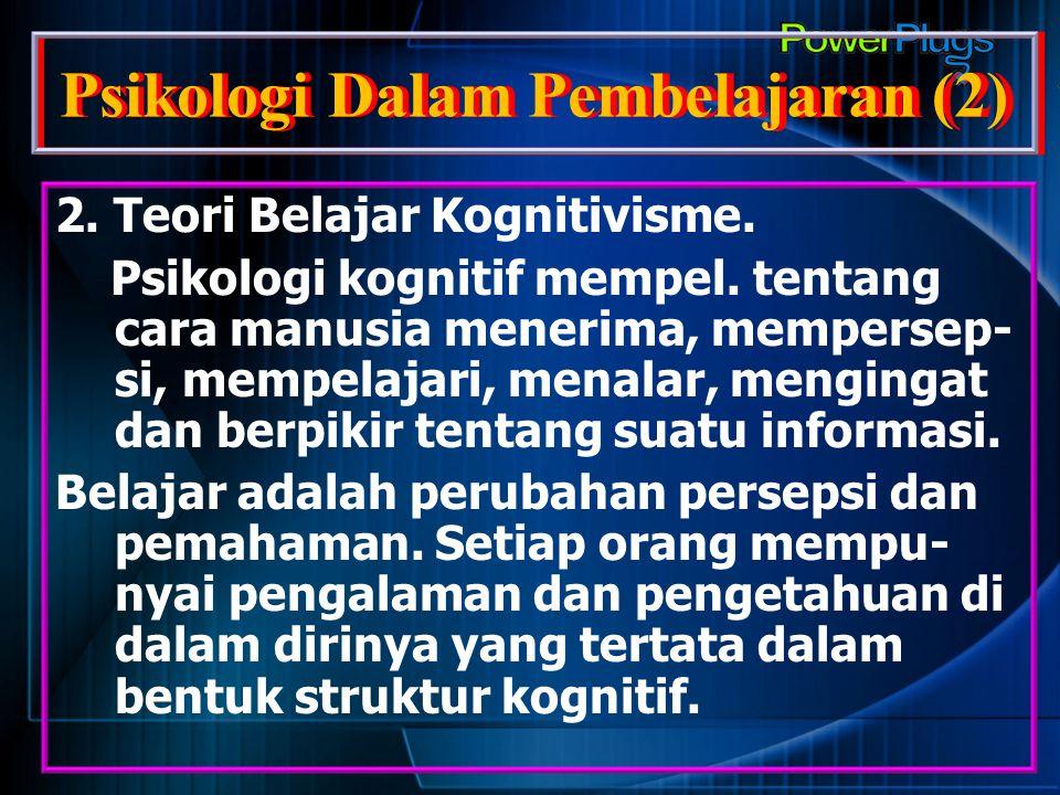 Psikologi Dalam Pembelajaran (2)