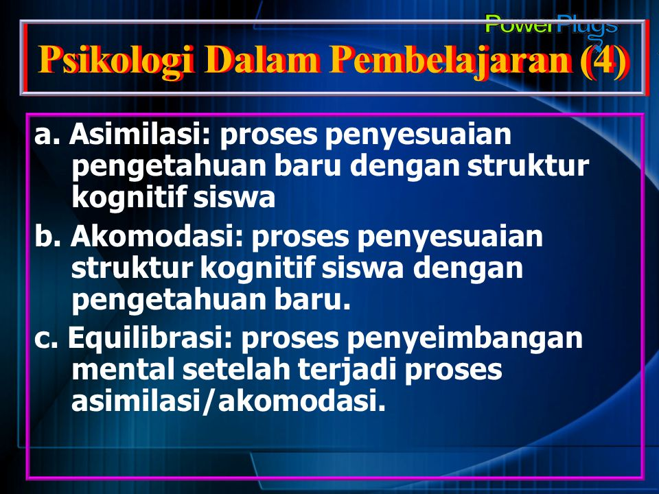 Psikologi Dalam Pembelajaran (4)
