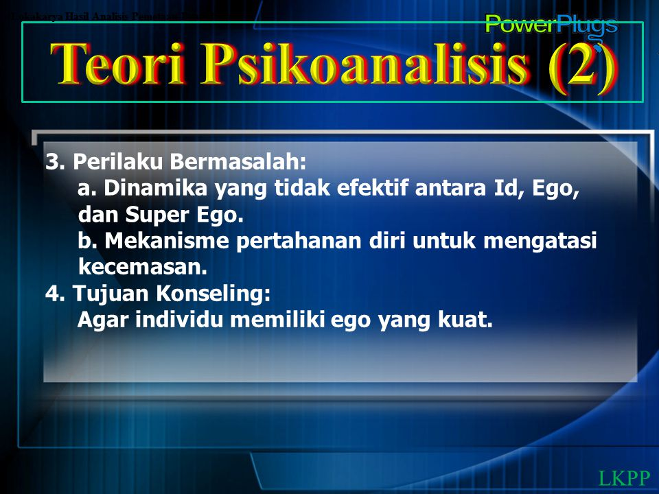 Teori Psikoanalisis (2)
