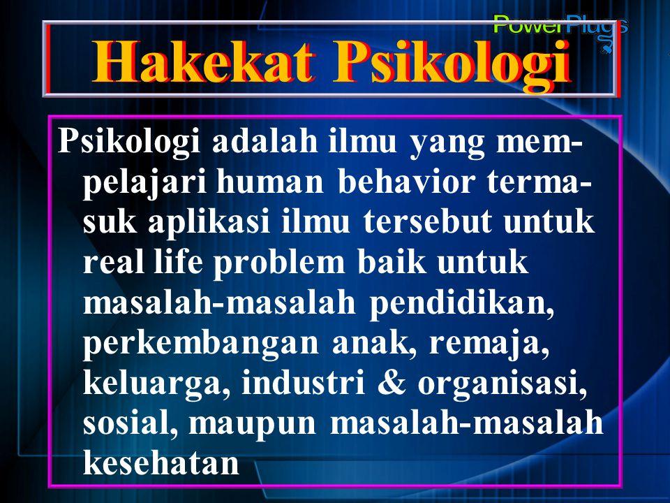 Hakekat Psikologi