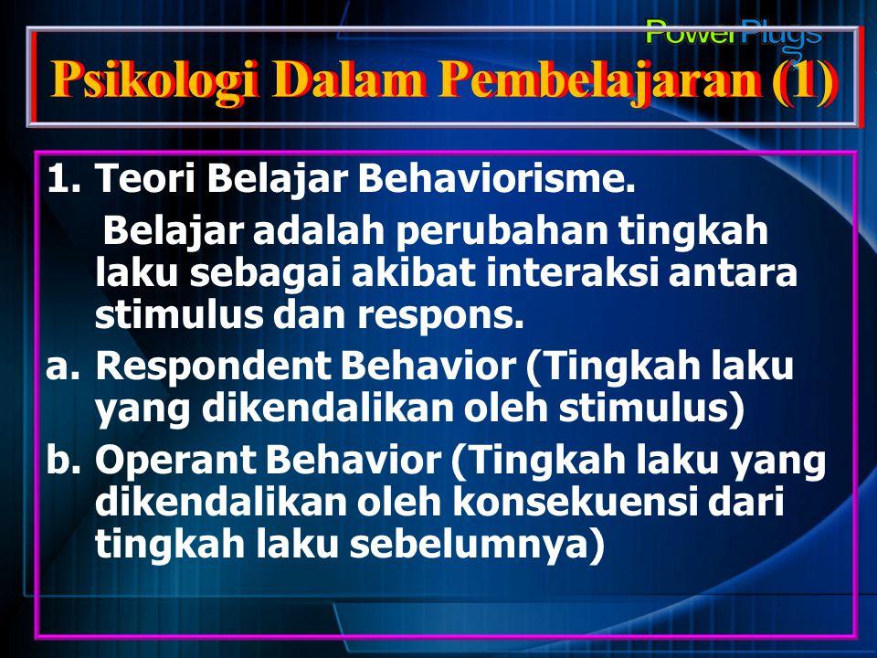 Psikologi Dalam Pembelajaran (1)