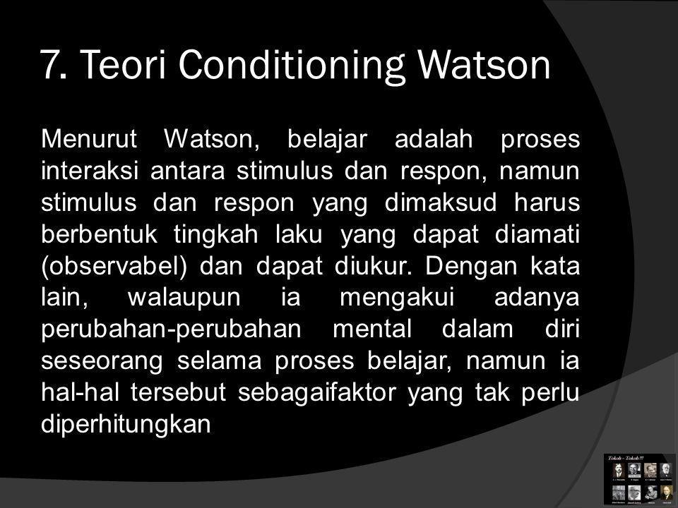 7. Teori Conditioning Watson