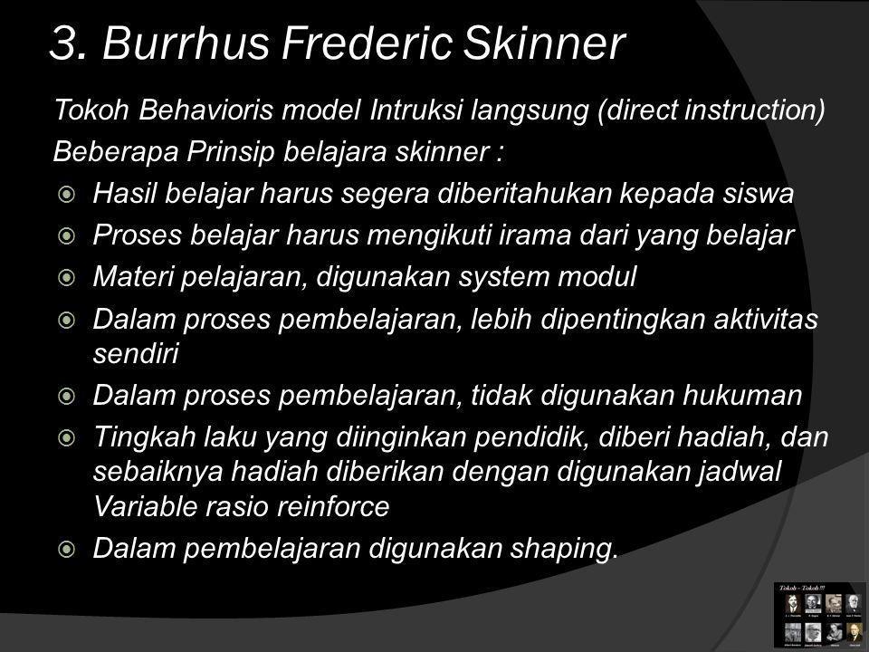 3. Burrhus Frederic Skinner