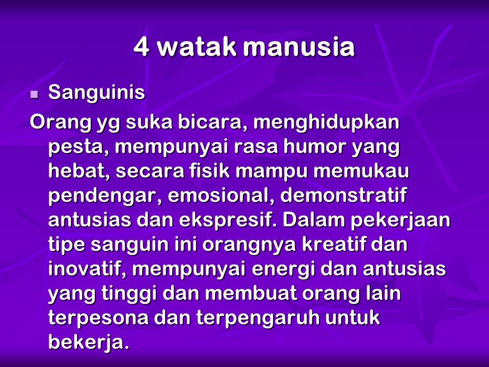 4 watak manusia Sanguinis