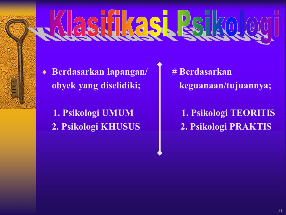Klasifikasi Psikologi