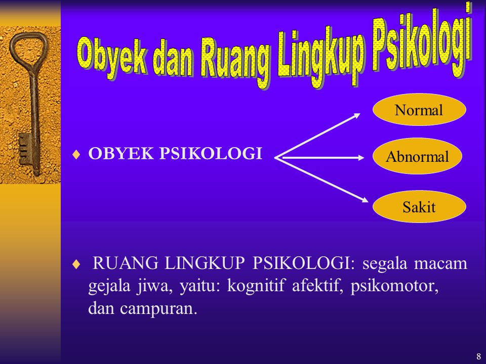 Obyek dan Ruang Lingkup Psikologi
