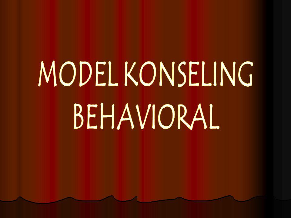 MODEL KONSELING BEHAVIORAL