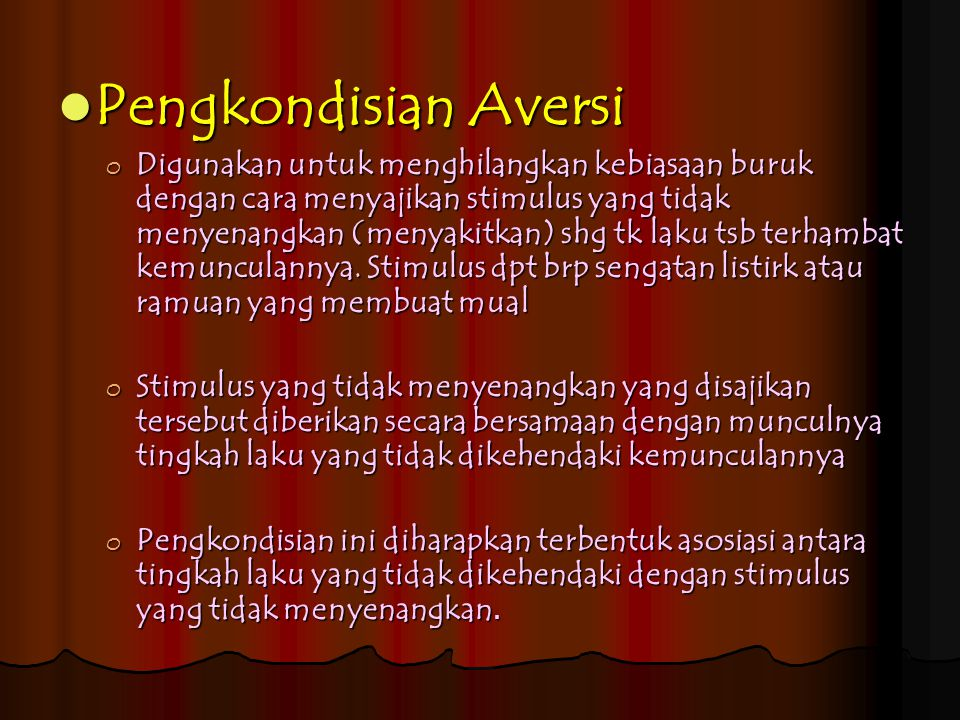 Pengkondisian Aversi