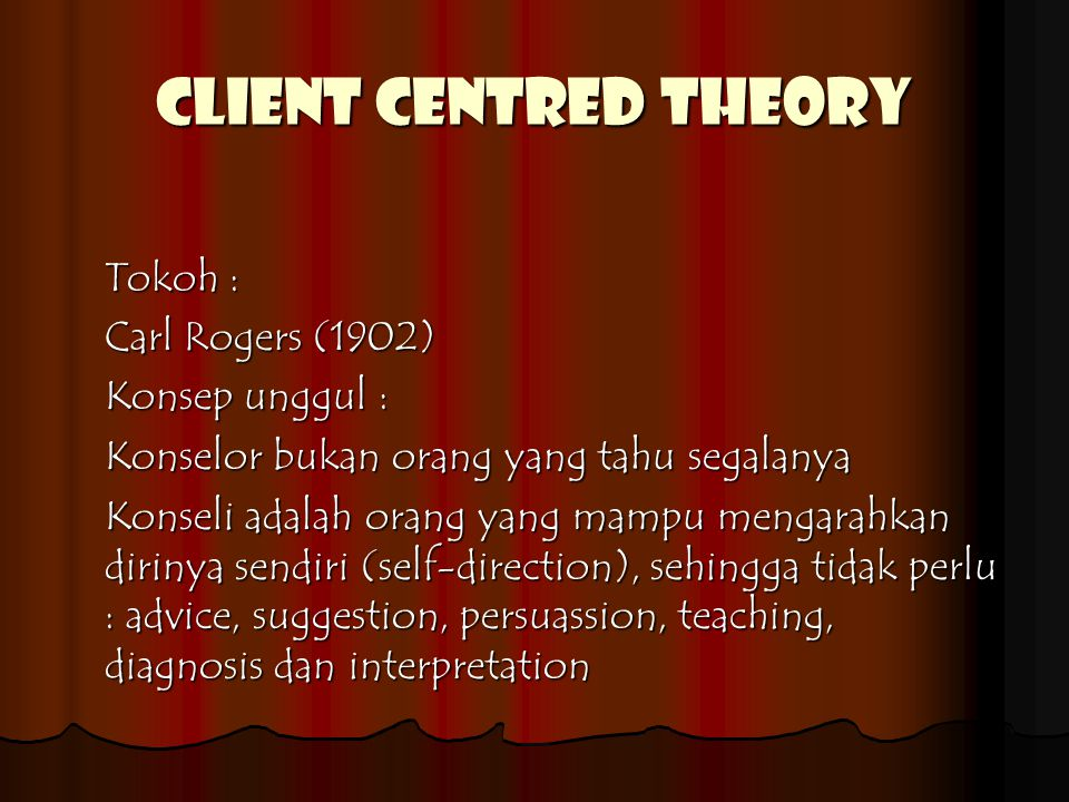 CLIENT CENTRED THEORY
