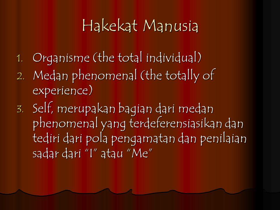 Hakekat Manusia Organisme (the total individual)