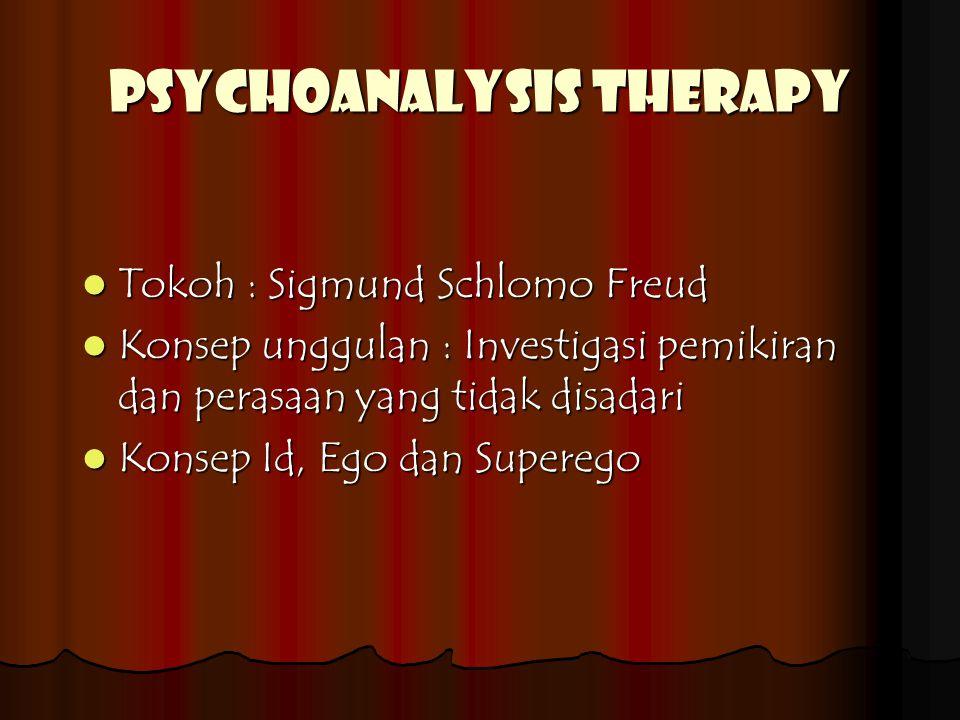 PSYCHOANALYSIS THERAPY