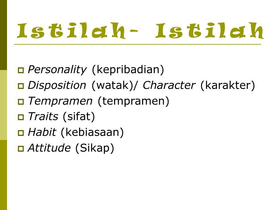 Istilah- Istilah Personality (kepribadian)