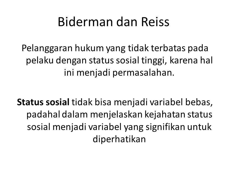 Biderman dan Reiss