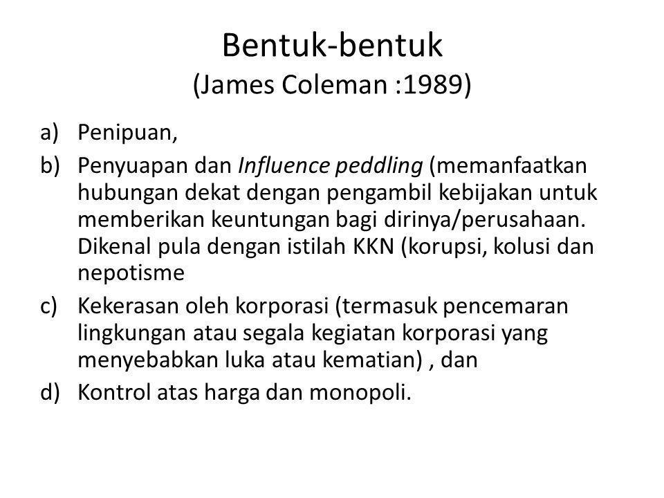 Bentuk-bentuk (James Coleman :1989)